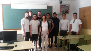 Mar con los alumnos de Grado Sup. de FP